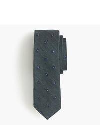 Cravatta con stampa cachemire verde scuro
