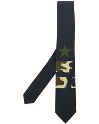 Cravatta con stelle nera di Givenchy