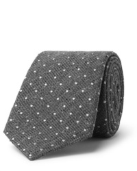 Cravatta di lana a pois grigia