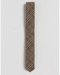 Cravatta di lana a quadri marrone di Asos