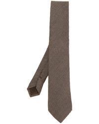 Cravatta di lana a quadri marrone di Church's