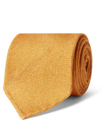 Cravatta di lana arancione di Drake's