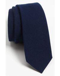 Cravatta di lana blu scuro