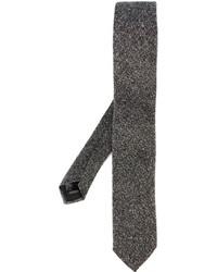 Cravatta di lana grigia di Corneliani
