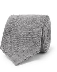 Cravatta di lana grigia di Thom Sweeney