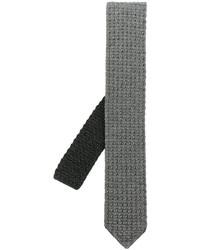 Cravatta di lana lavorata a maglia grigia di Ermenegildo Zegna
