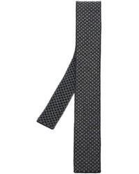 Cravatta di lana lavorata a maglia nera di Eleventy