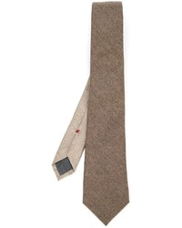 Cravatta di lana marrone di Brunello Cucinelli