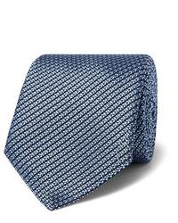 Cravatta di seta azzurra di Canali