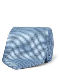 Cravatta di seta azzurra di Ermenegildo Zegna
