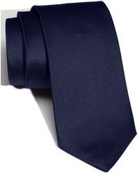 Cravatta di seta blu scuro