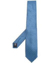 Cravatta di seta blu di Cerruti
