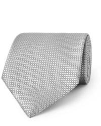 Cravatta di seta grigia di Ermenegildo Zegna