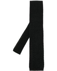 Cravatta di seta lavorata a maglia nera di Tom Ford
