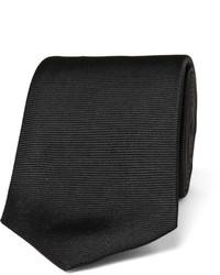 Cravatta di seta nera di Turnbull & Asser