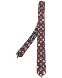 Cravatta di seta stampata bordeaux di Dolce & Gabbana