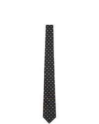 Cravatta di seta tessuta blu scuro di Gucci