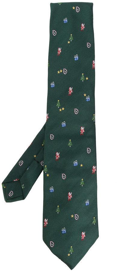 the best attitude e9646 3a6ef Cravatta di seta verde scuro di Etro