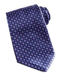 Cravatta geometrica blu scuro