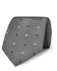 Cravatta geometrica grigia di Turnbull & Asser