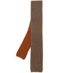 Cravatta lavorata a maglia arancione di Eleventy