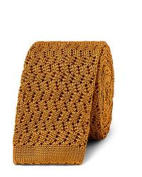 Cravatta lavorata a maglia dorata di Rubinacci