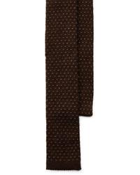 Cravatta lavorata a maglia marrone scuro