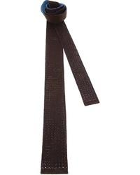 Cravatta lavorata a maglia marrone di Drumohr