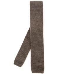 Cravatta lavorata a maglia marrone di Eleventy