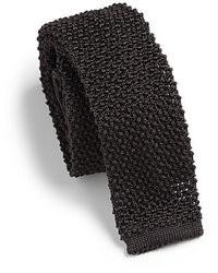 Cravatta lavorata a maglia nera