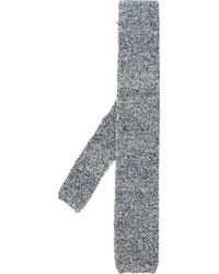 Cravatta lavorata a maglia nera di Eleventy