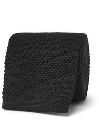 Cravatta lavorata a maglia nera di The Row