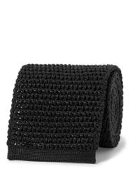 Cravatta lavorata a maglia nera di Tom Ford