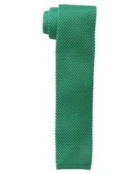 Cravatta lavorata a maglia verde