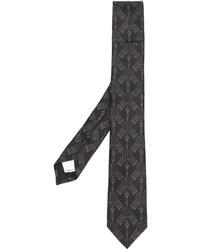 Cravatta ricamata marrone scuro di Valentino
