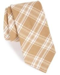 Cravatta scozzese beige