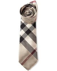 Cravatta scozzese beige di Burberry