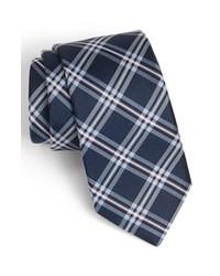 Cravatta scozzese blu scuro
