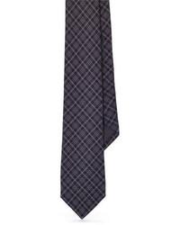 Cravatta scozzese grigio scuro