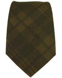 Cravatta scozzese marrone scuro
