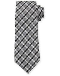 Cravatta scozzese nera