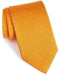 Cravatta stampata arancione