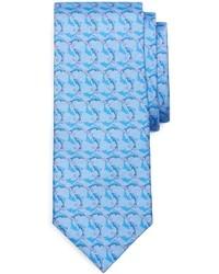 Cravatta stampata azzurra