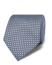 Cravatta stampata azzurra di Brioni