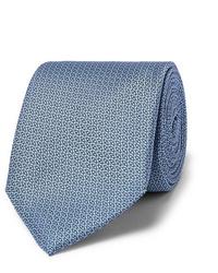 Cravatta stampata azzurra di Canali