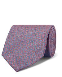 Cravatta stampata azzurra di Charvet