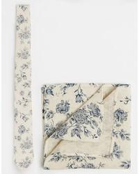 Cravatta stampata beige di Asos