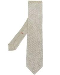 Cravatta stampata beige