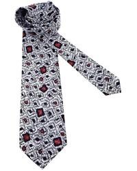 Cravatta stampata bianca di Pierre Cardin