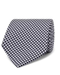 Cravatta stampata blu scuro e bianca di Emma Willis
